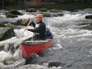 Prospector canoe Melrose weir